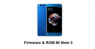 Firmware & ROM Mi Note 3