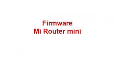 Firmware Mi Router mini