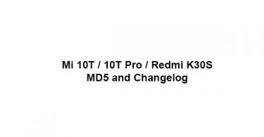 Mi 10T / 10T Pro / Redmi K30S - MD5 and Changelog